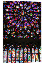 Canvas print  Stained glass windows of Notre-Dame Cathedral. - Kymri Wilt