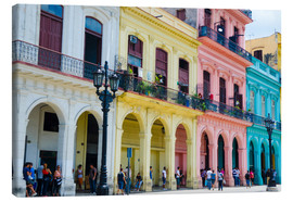 Canvas print  Colorful facades in Havana - Bill Bachmann