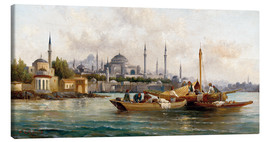 Canvas print  Merchant vessels in front of Hagia Sophia, Istanbul - Anton Schoth