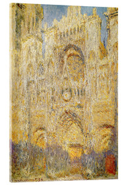 Acrylic print  Rouen Cathedral, at noon - Claude Monet