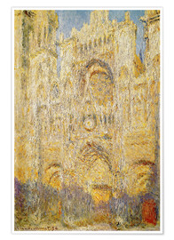 Premium poster  Rouen Cathedral, at noon - Claude Monet
