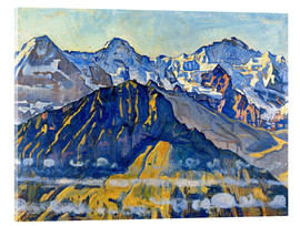 Acrylic print  Eiger, monk and virgin in the sun - Ferdinand Hodler
