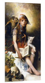 Foam board print  The witch's daughter - Carl Larsson