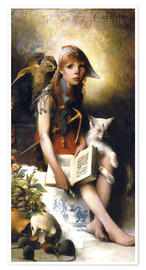 Premium poster  The witch's daughter - Carl Larsson