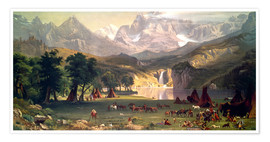 Premium poster  Indian camp in the Rockies - Albert Bierstadt