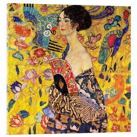 Acrylic print  Lady with a fan - Gustav Klimt