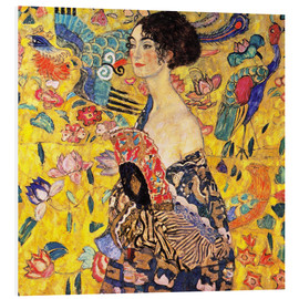 Foam board print  Lady with a fan - Gustav Klimt