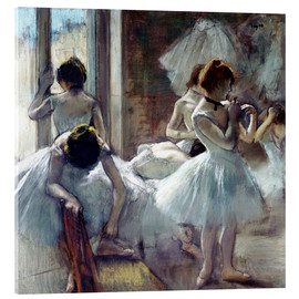 Acrylic print  Group of dancers - Edgar Degas