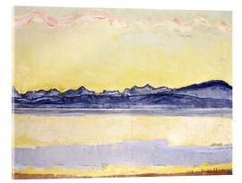 Acrylic print  Mont Blanc with red clouds - Ferdinand Hodler