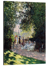 Aluminium print  In the Park Monceau - Claude Monet