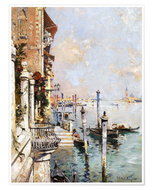 Premium poster  The Grand Canal, Venice - Franz Richard Unterberger