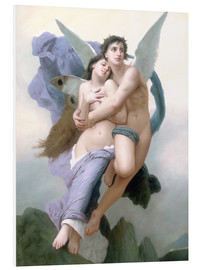 Foam board print  Abduction of Psyche - William Adolphe Bouguereau