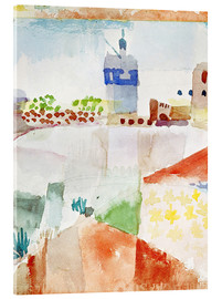 Acrylic print  Hammamet with the mosque, 1914 - Paul Klee