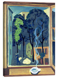 Canvas print  Courtyard with Sunbeams - Ernst Ludwig Kirchner