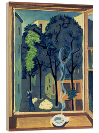 Wood print  Courtyard with Sunbeams - Ernst Ludwig Kirchner