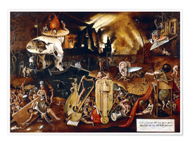 Premium poster  The Hell - Hieronymus Bosch