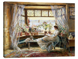 Canvas print  Reading at the window - Charles James Lewis