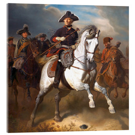 Acrylic print  Frederick the Great on horseback - Wilhelm Camphausen