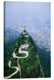 Canvas print  Christ on the Corcovado mountain - Sue Cunningham