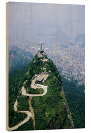 Wood print  Christ on the Corcovado mountain - Sue Cunningham