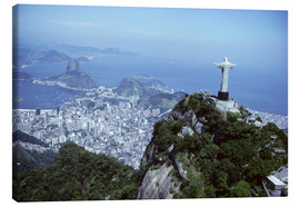 Canvas print  Christ is enthroned over Rio - Sue Cunningham