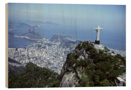 Wood print  Christ is enthroned over Rio - Sue Cunningham