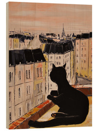 Wood print  Tomcat in Paris - JIEL