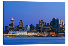 Canvas print  Vancouver skyline at night - Rob Tilley