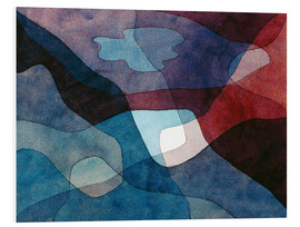 Foam board print  Mountain and Air Synthetic - Paul Klee