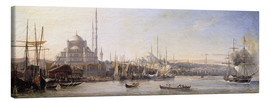 Canvas print  The Golden Horn, Suleymaniye Mosque and Fatih Mosque - Antoine Léon Morel-Fatio