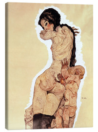 Canvas print  Mother and Child - Egon Schiele