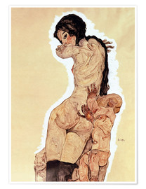 Premium poster  Mother and Child - Egon Schiele