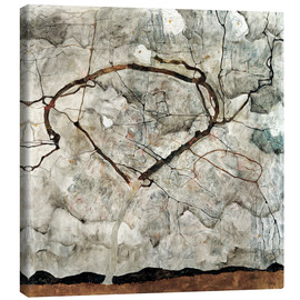 Canvas print  Autumn tree in the wind - Egon Schiele