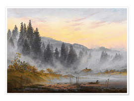 Premium poster  The morning - Caspar David Friedrich