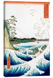 Canvas print  Sea at Satta in Suruga Province - Utagawa Hiroshige