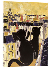 Acrylic print  Cats on the rooftops of Paris - JIEL