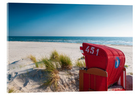 Acrylic print  Red beach chair with a view - Reiner Würz