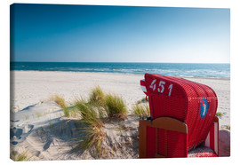 Canvas print  Red beach chair with a view - Reiner Würz