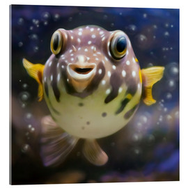 Acrylic print  fugu the bowlfish - Photoplace Creative