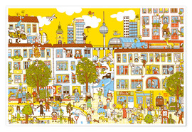 Premium poster Berlin Search and Find by Judith Drews