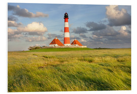 Foam board print  Lighthouse Westerheversand - Markus Lange
