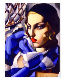 Premium poster The blue scarf