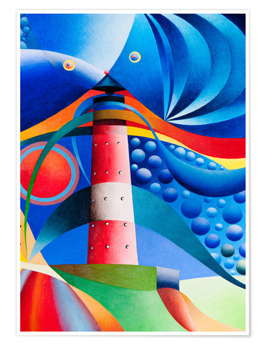 Premium poster north sea lighthouse hoernum