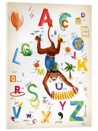 Acrylic print  ABC Alphabet animals, colours and more - Heike Udes