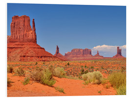 Foam board print  Monument Valley I - Melanie Viola