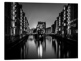 Aluminium print  Hamburg by night (monochrome) - Sascha Kilmer