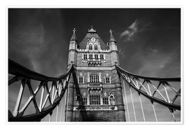 Premium poster London Tower Bridge monochrome