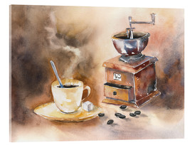 Acrylic print  The smell of coffee - Jitka Krause