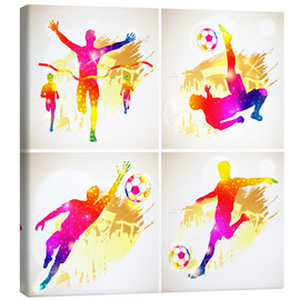 Canvas print  Soccer and Winner Silhouette - TAlex
