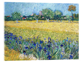 Acrylic print  View of Arles with irises in the foreground - Vincent van Gogh